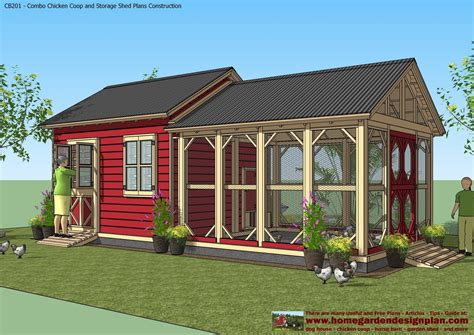 shed home plans home garden plans cb201 combo plans chicken coop