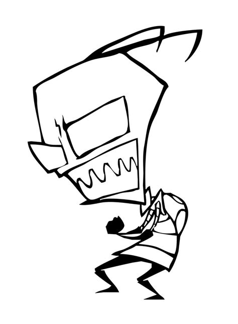 Invader Zim Gir Coloring Pages Gir Coloring Pages