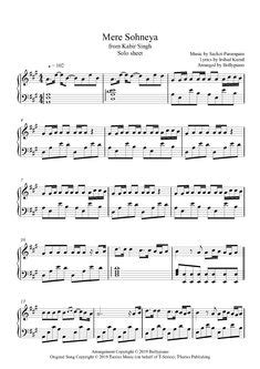 Tum Hi Aana Piano Notes | Marjaavaan | Solo Sheet Music