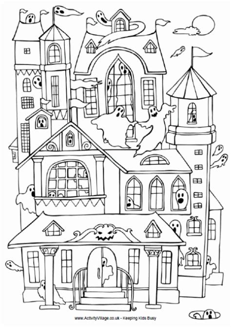 coloring pages halloween haunted house haunted house coloring pages printables coloring pages