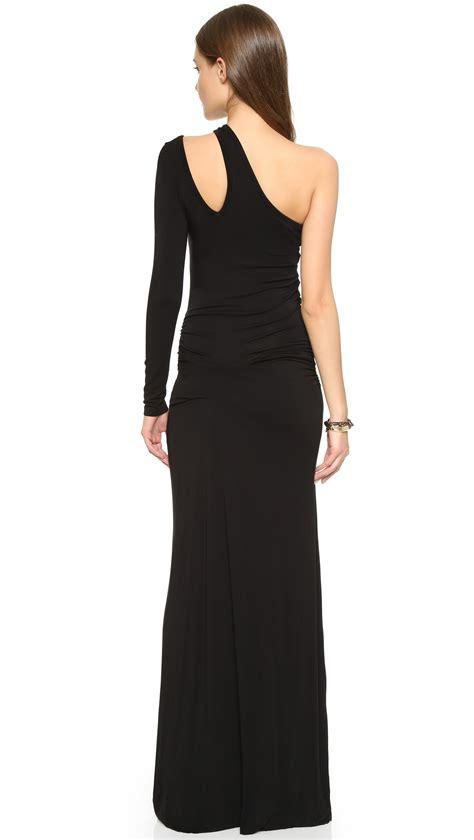 Longdress Vinny A13750on fabulous vinny one shoulder dress in black lyst
