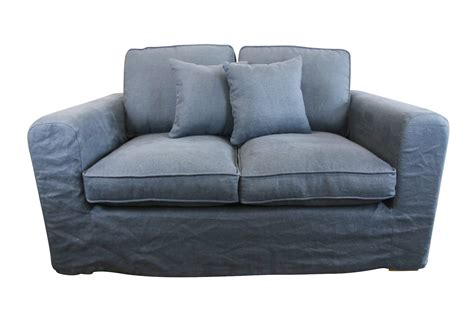 Grey And Blue Sofa Linen 2 Seat Sofa Blue Grey Escape Map