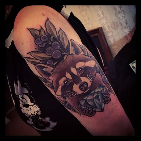 racoon tattoo 22 quizzical raccoon tattoos tattoodo