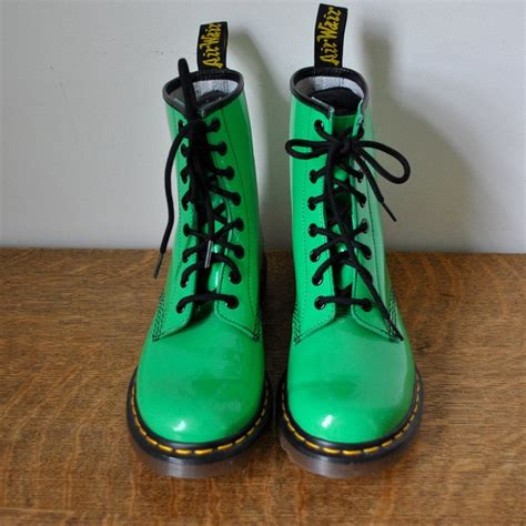 Sepatu Fashion High Heels Rca999 vintage classic 90s lime neon green patent leather dr martens lace up liked on polyvore