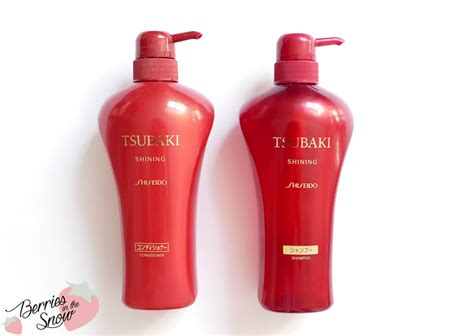 Shiseido Conditioner review shiseido tsubaki shoo and conditioner berries