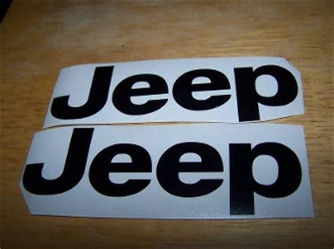 Jeep Fender Decals Jeep Fender Decal Set Of 2 Vinyl Sticker Jk Tj