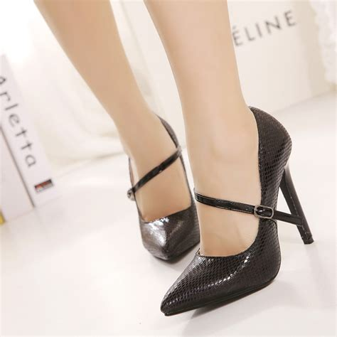 high heels show free shipping size35 40 pumps pointed toe thin high