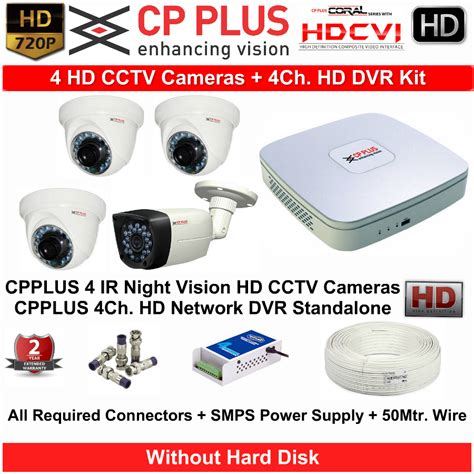 Cctv Cp Plus buy cpplus hd cctv with dvr kit with all