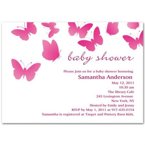Butterfly Invitations For Baby Shower by Pink Butterfly Baby Shower Invitation Bs018
