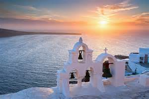 Duvet Cover White Santorini Sunset Photograph By Evgeni Dinev
