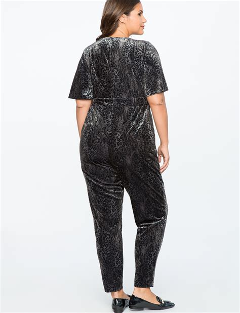Velvet Sleeve Jumpsuit flutter sleeve velvet jumpsuit s plus size dresses