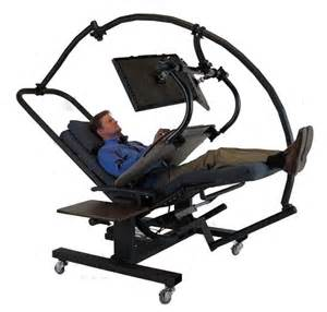 Locking Computer Desk Zero Gravity Workstation 7