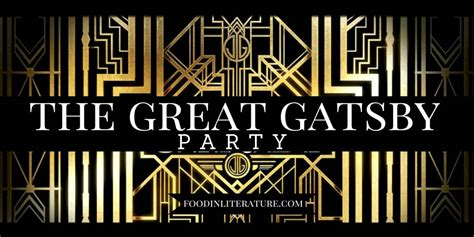 the theme of the great gatsby is literature themed parties in literature