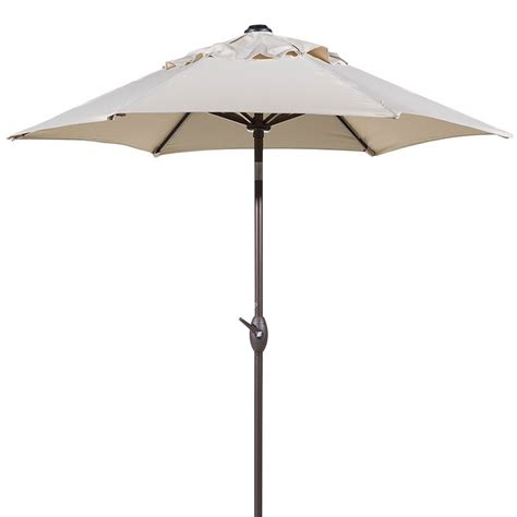 Crank And Tilt Patio Umbrella 7 1 2 Ft Outdoor Market Patio Umbrella With Push Button Tilt Crank Lift Ebay