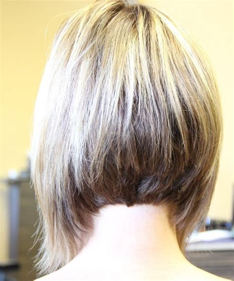 front and back views of short bob hairstyles long bob haircuts back view