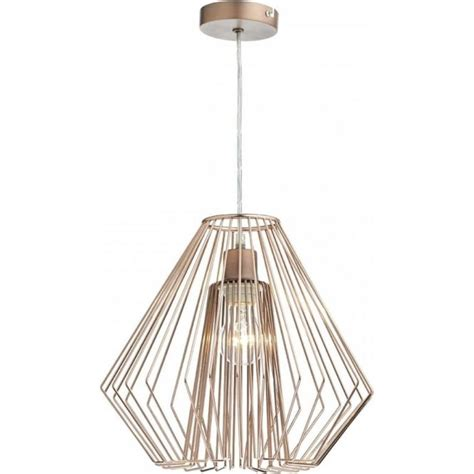 Easy Fit Ceiling Lights Dar Lighting Needle Easy Fit Ceiling Light Pendant Shade In Copper Wirework Finish Lighting