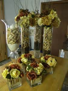 Square Centerpiece Vases Wine Cork Centerpieces For Wedding But With Purple