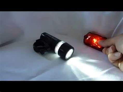 Battery And Brake Light On by Battery Powered Bicycle Led Light Set White Led Headlight