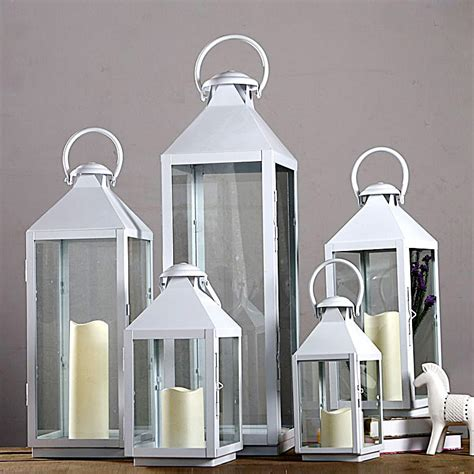 Large Floor Lanterns by Wrought Iron Glass Vintage Large Floor Windproof Lanterns