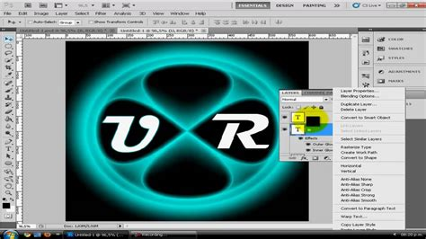 tutorial photoshop cs5 neon light beams tutorial photoshop cs5 como crear un logo con efecto