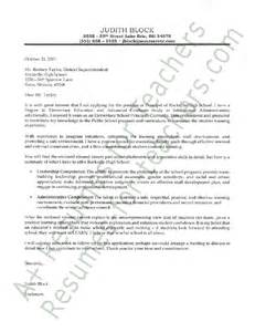 Cover Letter For Principal Position by Principal Cover Letter
