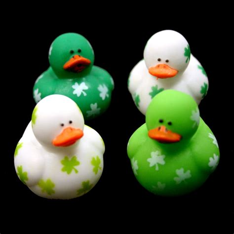 disney rubber st st pats mini shamrock rubber ducks