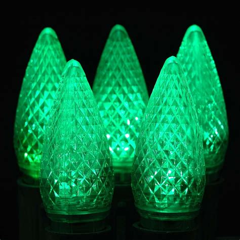 replacement bulbs for christmas string lights led green c9 replacement christmas lights 25 pack