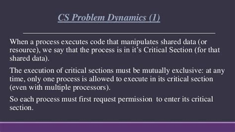 critical section in operating system critical section problem in operating system