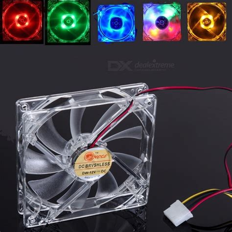 120 x 120 x 25mm fan portable 120 x 120 x 25mm 4 led light clear