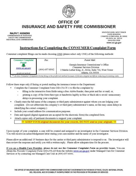 Insurance Valuation Letter Insurance Commissioner Complaint Ga Diminished Value Car Appraisal