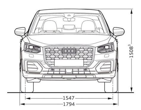 Audi Q2 Technische Daten by Abmessungen Audi Q2 Auto Bild Idee