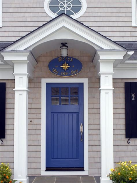 blue house with door 21 cool blue front doors for residential homes
