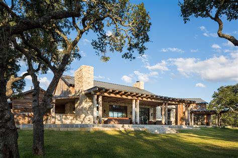 Texas Farm House Plans llano ranch rustic exterior austin by cornerstone