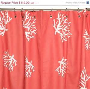 4th of july sale coral shower curtain chevron 72x72 coral
