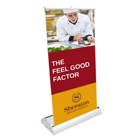 marketing table top displays promotional logo deluxe mini retractor graphic banner kit