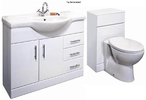 Bathroom Combination Vanity Units Premier Classic 1050mm Bathroom Vanity Unit Wc Unit Btw Toilet 1550mm Combination Set