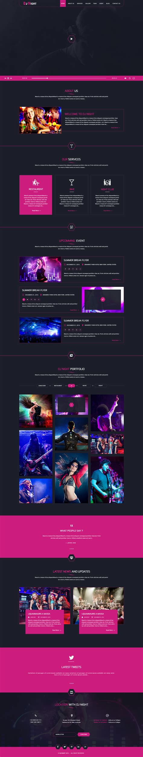 dj themes songs dj night event dj party music club psd template by