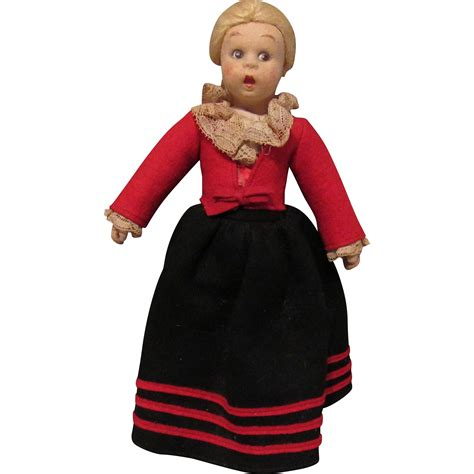 lenci mascotte doll vintage lenci mascot cloth doll in original 9