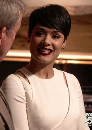 annika off empire haircut wornontv anika s red jumpsuit on empire grace gealey