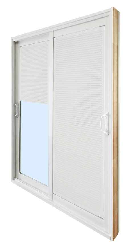 5 Foot Sliding Patio Doors Stanley Doors Sliding Patio Door Mini Blinds 5 Ft 60 In X 80 In The