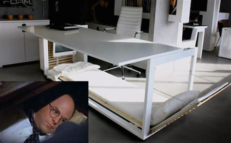 george costanza desk bed some genius made george costanza s sleeper desk a reality pedestrian tv