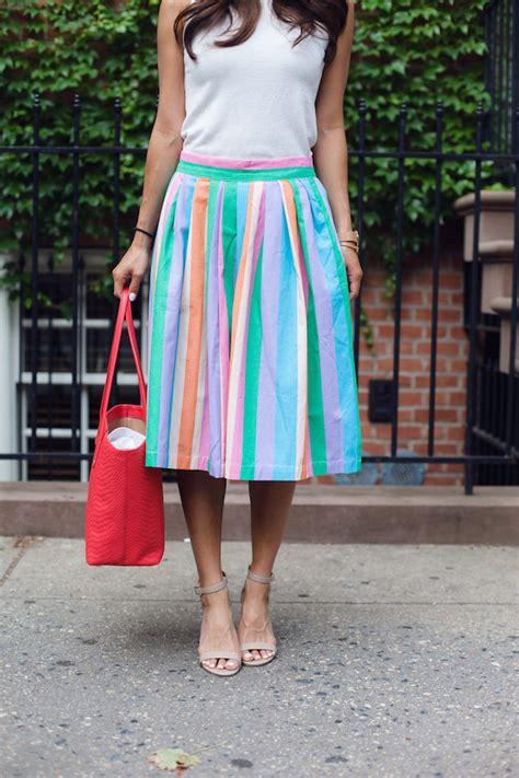 colorful midi skirt dress ala
