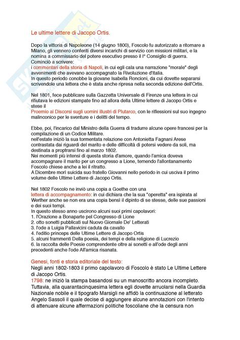 ultime lettere di jacopo ortis pdf le ultime lettere di jacopo ortis appunti di letteratura