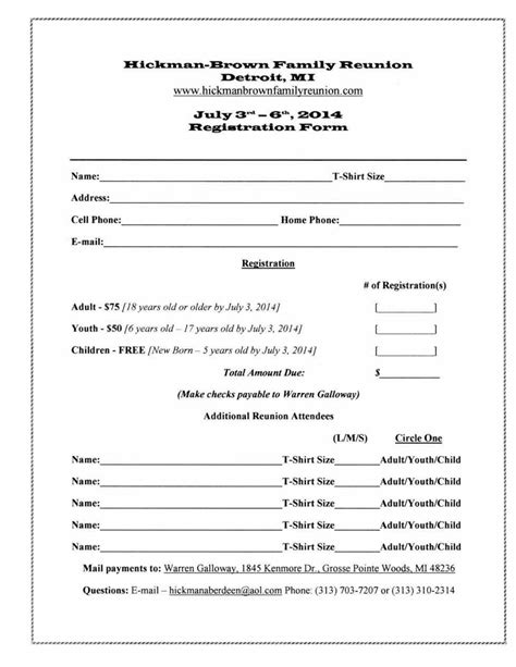family reunion letter template free printable letters letter registration free family