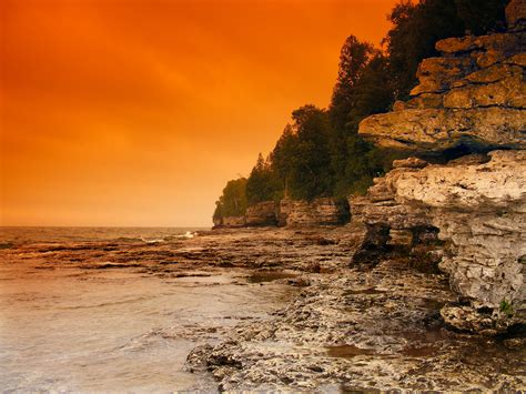 Door County Wis by Cave Point Door County Wisconsin Flickr Photo