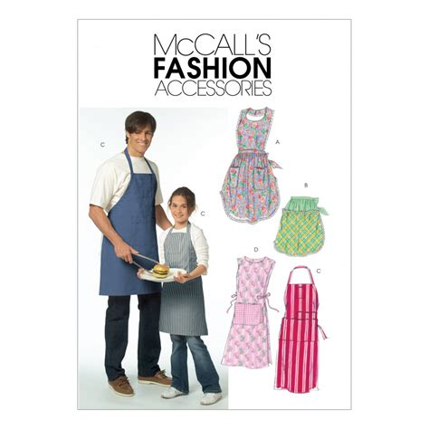 sewing a men s apron mccalls ladies mens girls boys easy sewing pattern
