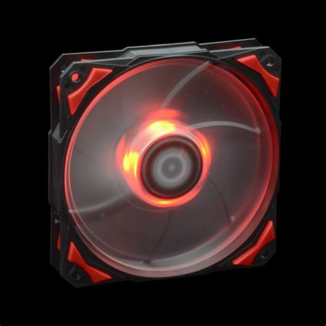 biggest pc case fan red led 120mm 4pin fan with de vibration rubber 1600rpm