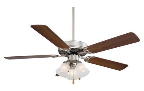 brushed steel ceiling fan with light minka aire one light brushed steel ceiling fan brushed