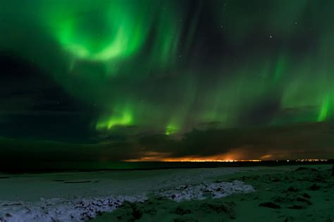 iceland northern lights winter free images winter light sky atmosphere