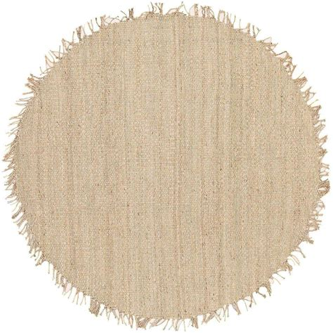 Artistic Weavers Wisner Bleach Jute 8 Ft X 8 Ft Round 8 Ft Area Rugs